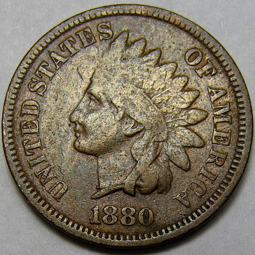 1880 P Indian Head Cent #7