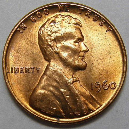 1960 P Lincoln Memorial Cent #2