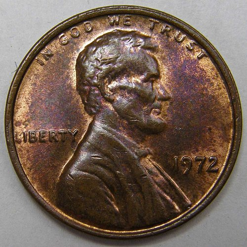 1972 P Lincoln Memorial Cent : Doubled Die Obverse DDO-008