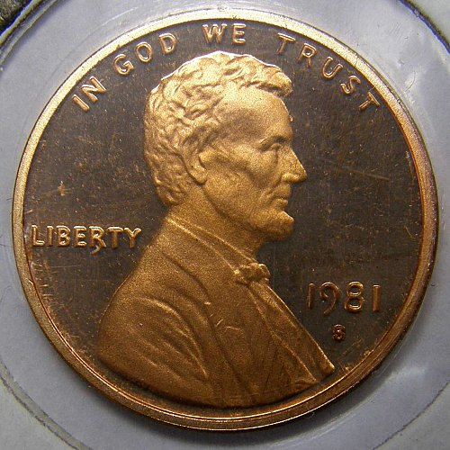 1981 S Lincoln Memorial Cent Proof #1 - Type 1