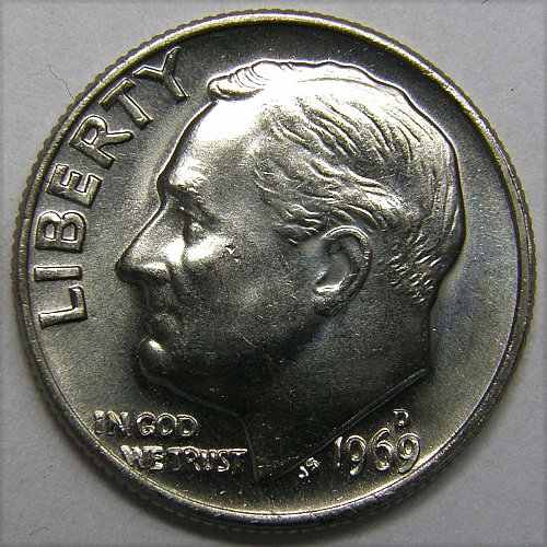 1969 D Roosevelt Dime #1