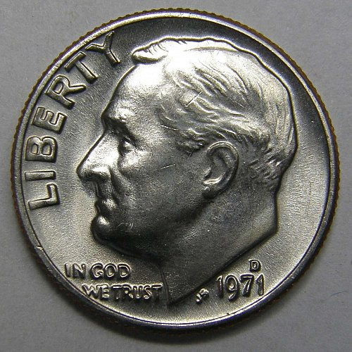 1971 D Roosevelt Dime #1