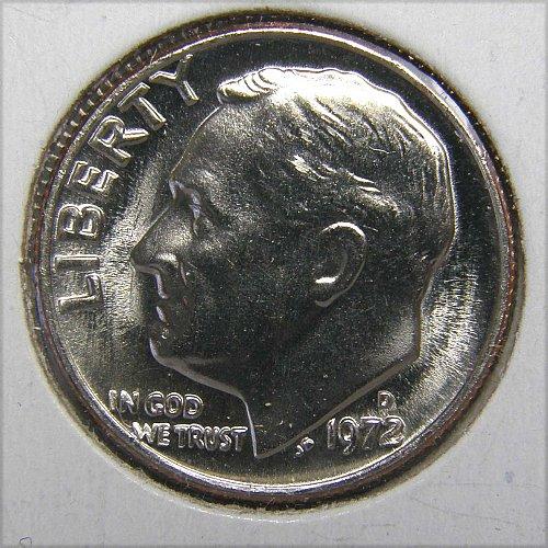 1972 D Roosevelt Dime #1