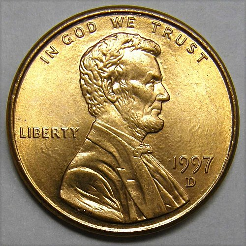 1997 D Lincoln Memorial Cent #1 Extremely Clear Surfaces