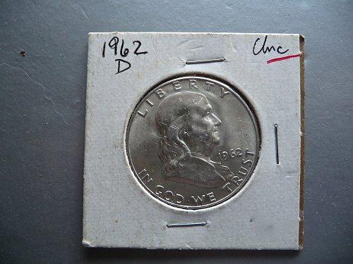 1962 - D  Franklin Half Dollar