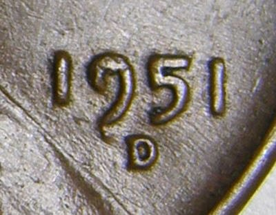 1951 D Lincoln Wheat Cent Cent #3
