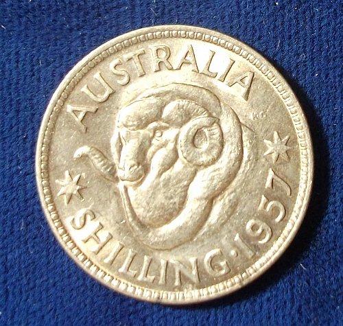 1957 Australia Shilling BU