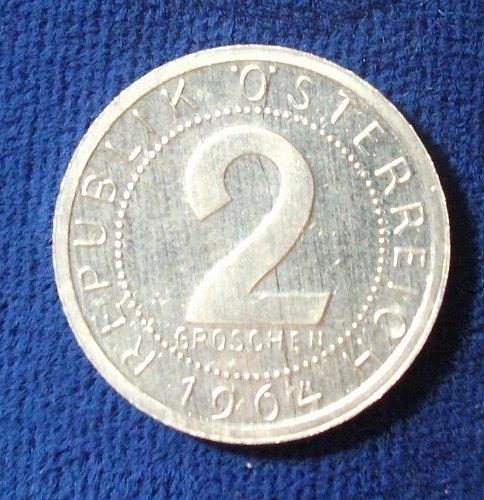 1964 Austria 2 Groschen Proof