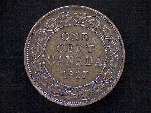 1917 CANADA LARGE ONE CENT COIN