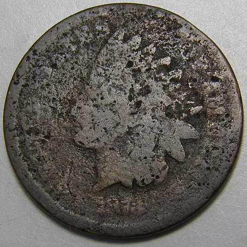 1873 Indian Head Cent #11 Closed 3