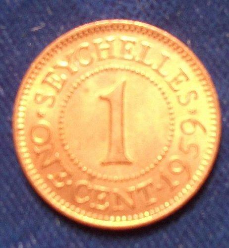 1959 Seychelles 1 Cent UNC