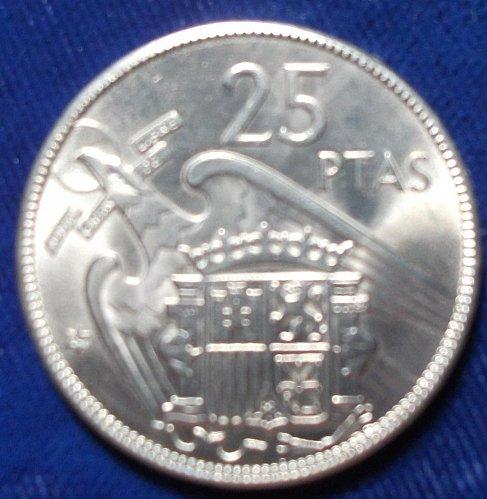 1959(64) Spain 25 Pesetas BU