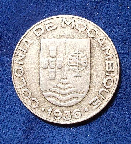 1936 Mozambique Escudo VF