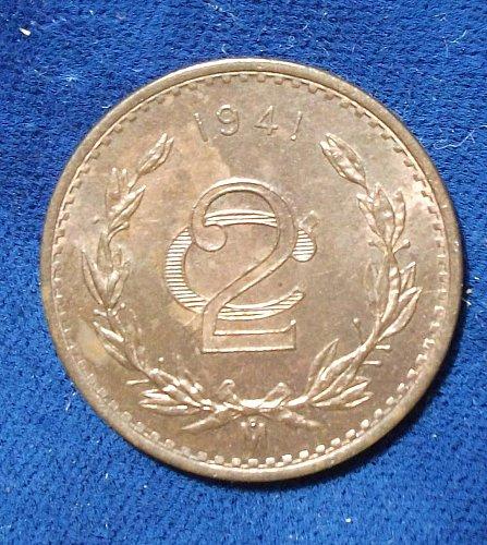 1941 Mexico 2 Centavos UNC