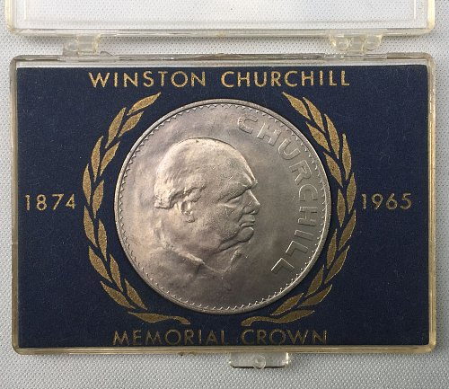 ***1965 United Kingdom Winston Churchill Memorial Crown Commemorative Coin***