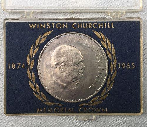 ***1965 United Kingdom Winston Churchill Memorial Crown Commemorative Coin***