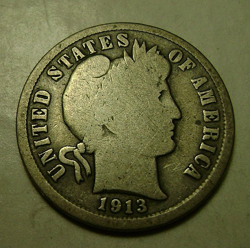 1913-S G Good Barber Dime Free Shipping