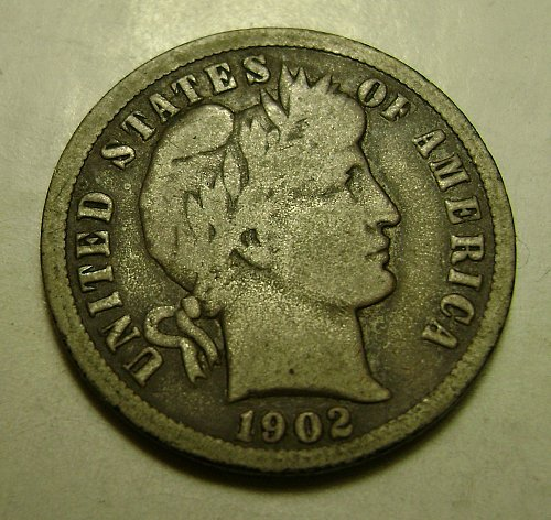 1902-O VG Very Good Barber Dime Free Shipping