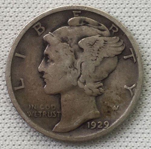 1929 P Mercury Dime