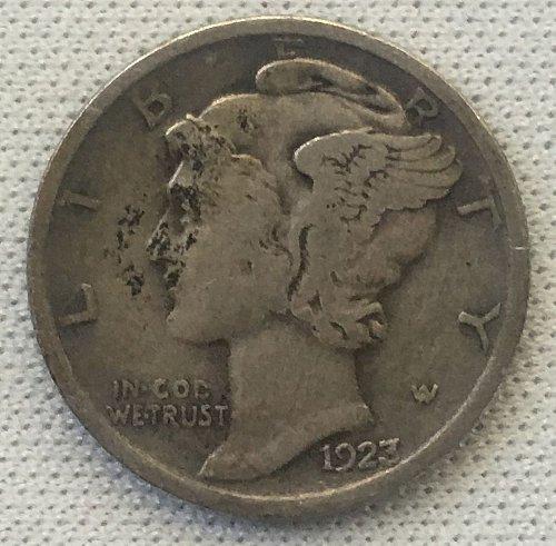 1923 P Mercury Dime