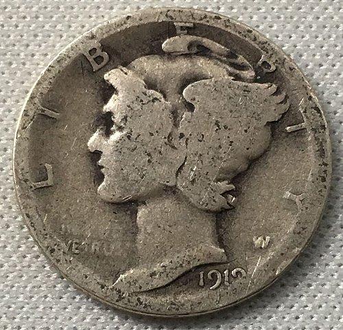 1919 D Mercury Dime