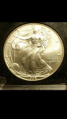 1996-P silver American Eagle