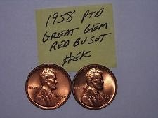 1958 and 1958d b/u pennys