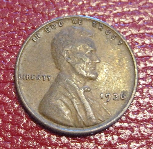 1936 P Lincoln Wheat Cent