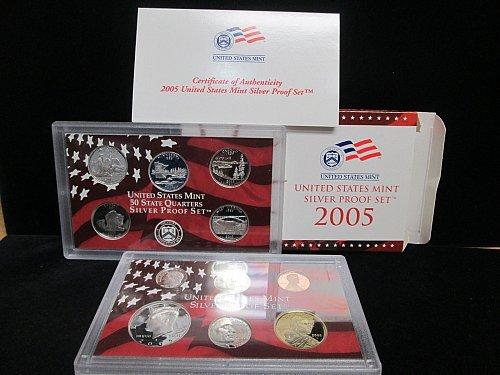 2005 US MINT SILVER PROOF, ERROR SET. 90% Silver.