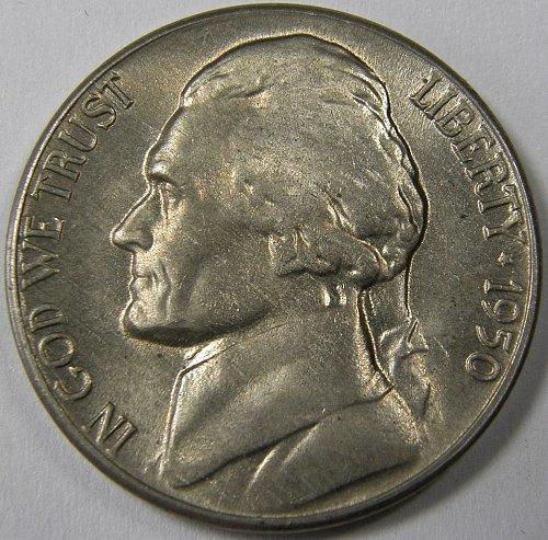 1950 D Jefferson Nickel #2