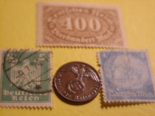 1937 german 1 pfenning world war ii swastika 3rd reich