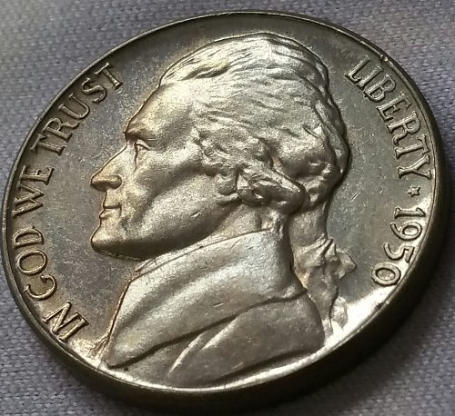 1950 Proof Jefferson Nickel