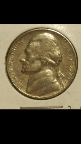 1970-S nickel  (defective planchet )