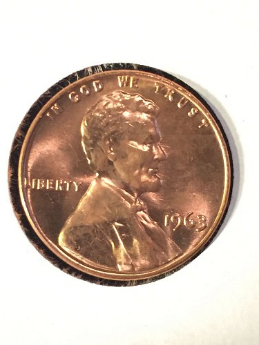 1963 Uncirculated Lincoln Cent (archived in tubes)