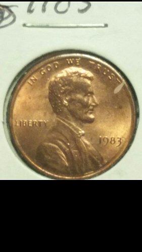1983 penny missing designer initials(FG)