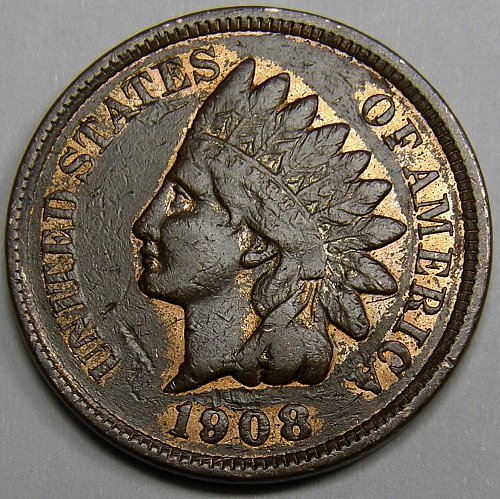 1908 P Indian Head Cent #15