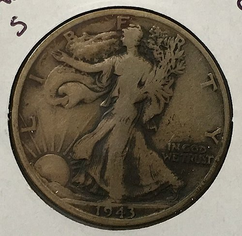 1943 S Walking Liberty Half Dollar - Toned