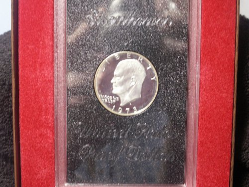 1973 S Eisenhower Silver Dollar Proof