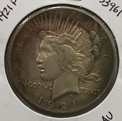 1921 P Peace Dollar - AU+
