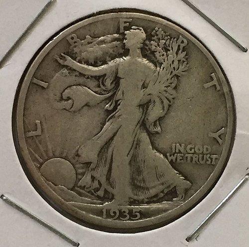 1935 S Walking Liberty Half Dollar