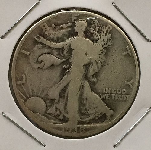 1938 P Walking Liberty Half Dollar