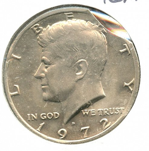 1972 Kennedy Half dollar clipped Denver
