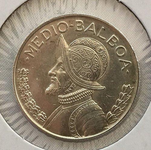 1962 Panama Medio Balboa .900 Silver
