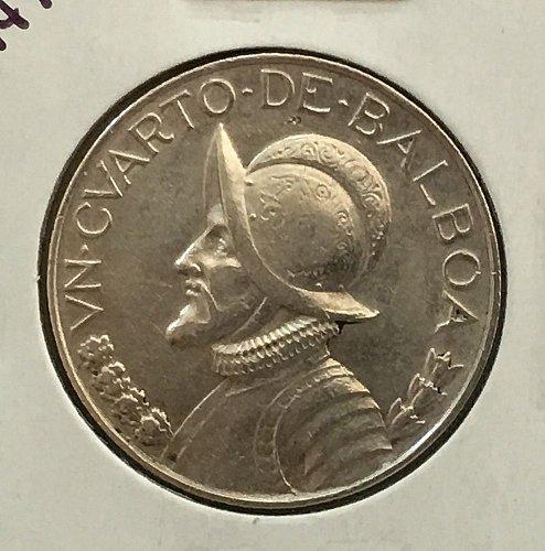 1947 Panama 1/4 Balboa .900 Silver