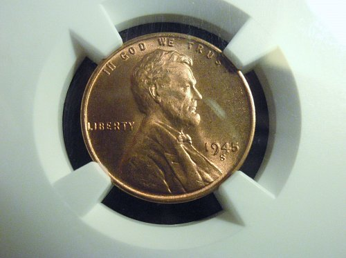 1945-S  Lincoln Cent - NGC MS66RD