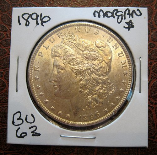 1896 P MORGAN SILVER DOLLAR, NICE MS+++, UNCIRCULATED