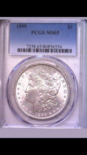 1899 Morgan Dollar MS-65 low mintage