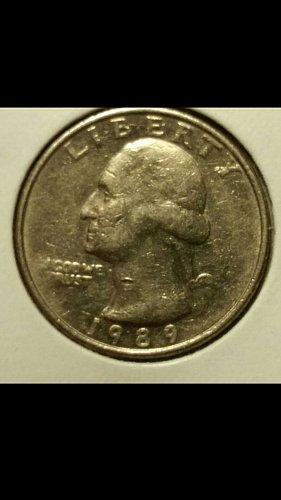 1989 quarter  (No Mint mark)