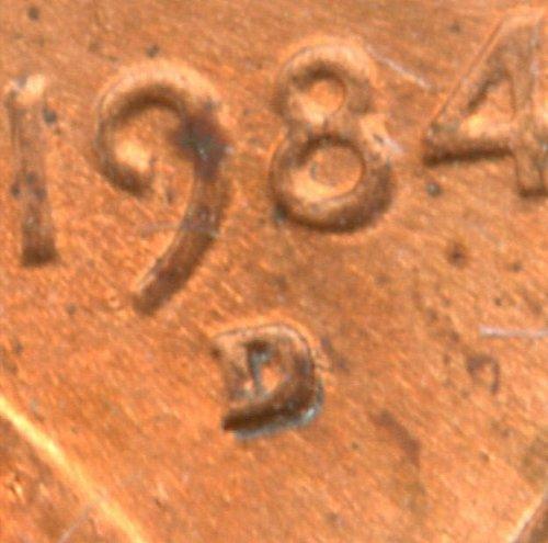 1984 D/D lincoln Memorial cent