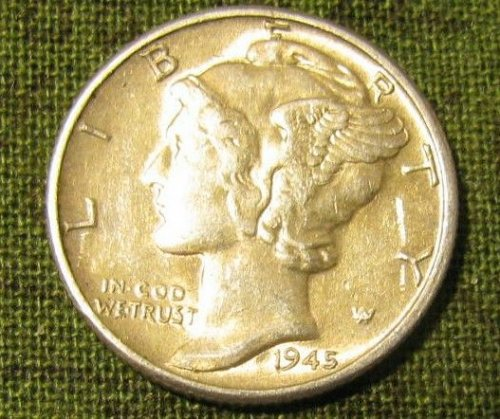 1945 P mercury Dime BU-A-11